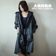 Free shipping 100%waterproof 100%breathable fashion women's men's raincoat lightweight thinner rain poncho trench coat