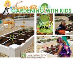 Fun ideas of how to get your kids involved in the garden!