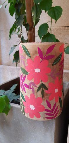 Painted Flower Pots, Foyer Design, Painted Mason Jars, Wood Art, Cactus, Planter Pots, Diy, Wallpapers, Floral