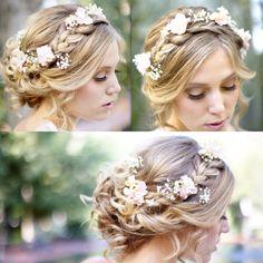 Wedding hair idea, so cute!