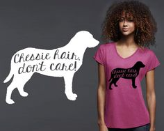 Chesapeake Bay Retriever Dog Hair T-shirt