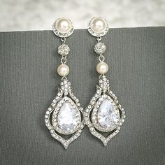Original Design by Glamorous Bijoux®   This listing is for the TORILYN Earrings - Ultra glamorous statement bridal dangle earrings feature