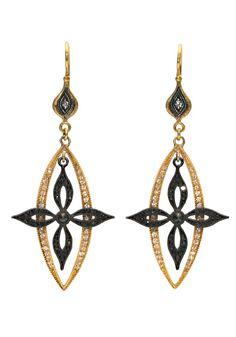 Arman Black & White Diamond Cross Earrings available at osterjewelers.com.