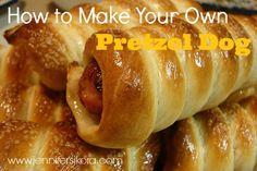 National Hot Dog Day - How to Make Your Own Pretzel Dog - Jen's Journey