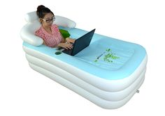 Because who doesn't need a portable inflatable bathtub?