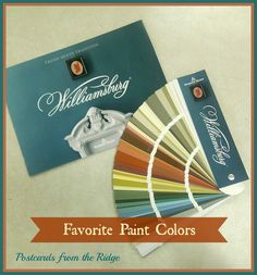 Favorite Paint Colors ~ The New Williamsburg Collection from Benjamin Moore. 144 beautiful new colors. Front Door Paint Colors, Painted Front Doors, Paint Colors For Home, House Colors, Neutral Paint Colors, Neutral Colour Palette, Color Palate, Colour Palettes, House Painting