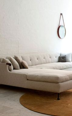 Another sectional option ♂ Neutral interior design beige sofa