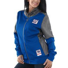 New York Giants Majestic Women s Speed Fly Lightweight Full-Zip Fleece  Jacket - Royal 5917b86c5