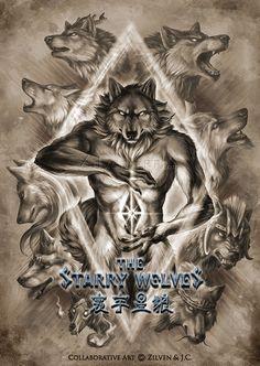 The Starry Wolves Postcard by ZilvenArt on DeviantArt