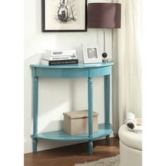 Convenience Concepts French Country Entryway Table, Multiple Colors, Blue