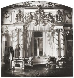 Bedroom of Tsar Alexander I of Russia ~ Catherine Palace - 1859.A♥W