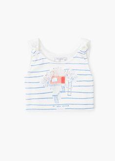 T-shirt estampada purpurina -  Criança | MANGO Kids Portugal
