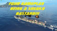 World of Warships FujiKaze gameplay Being a sneaky bastard!!