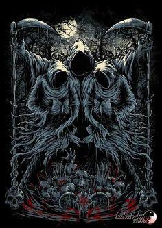 """Grim Reaper: #Grim #Reaper ~ """"Ritual of Ripper,"""" by Kakak Lung."""