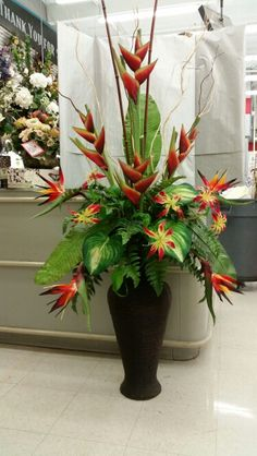 Tropical entryway piece.