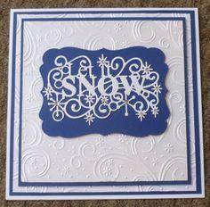 Let it Snow - Sue Wilson die and embossing folder, Handmade Christmas Card
