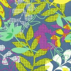 Fabric Store Erin Mcmorris Wildwood Checked Floral Ml9540 Green Material World
