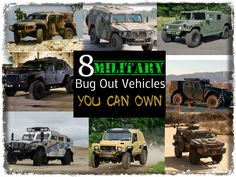8 Military Bug Out Vehicles YOU Can Own. All-terrain vehicles that can manage almost any trail plus ford rivers and streams. These vehicles could save you | Vehicle Prepping Tips for Bugging Out