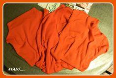 Tout à droite le pull en polaire, au milieu un pull chaussette en lainage, et à droite un genre de tee-shirt/pull en coton, donc 3 matières différentes.
