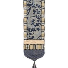 Hampton Table Runner with Cord, Braid and Tassels by Jennifer Taylor. $145.00. 2579-596598597 Features: -Material: 100pct Polyester cover.-Cord and tassels.-Traditional.-Home furnishing brings classic style and luxurious comfort to the home.