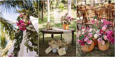 bougainvillea & roses decor. Tietiare Estate Wedding // Sayulita, MexicoTaryn Baxter Photographer