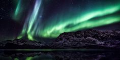 Northern Lights Promise  Winter is perhaps the most incredible time of year to explore the snow-covered landscape of the Norwegian coast. v