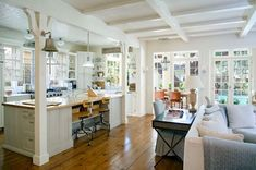 a charming coast cottage kitchen.