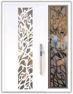 The Art Nouveau Doors are inspired by various trends in art. The Art Nouveau doors match a free and artistic architectural style, with flowing lines, which are inspired by nature. They fit into a house with gentle and harmonious colors, aside of hard industrial materials and the flow of nature. The unique aspect of the door is a laser cut ornament in the art Nouveau style, which enables to play with light in the interior space of the house.