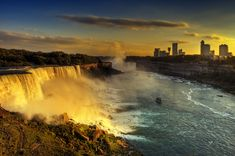 This is an absolutely amazing photo taken of Niagara Falls by Wolfgang Staudt. Niagara Falls is actually the collective name for the Horseshoe Falls and the American Falls. These waterfalls have the highest flow rate of any waterfall in the world and has a vertical drop of more than 165 feet. It creates the border between Ontario, Canada and New York and is visited by as many as 28 million tourists a year. It is a very popular location for films such as Pirates of the Caribbean. #travel