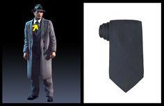 DKNY Tie Tobiko Solid Silk