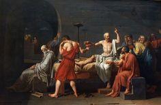 """""""Death of Socrates,"""" Jaques Louis David"""