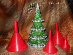 Бонсай топиарий ёлка Новый год Рождество Плетение Маленькая елочка Трубочки бумажные фото 8