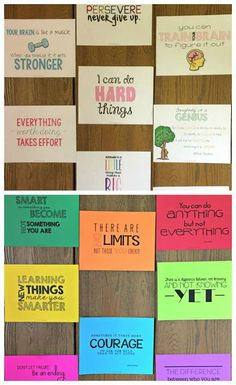 Growth Mindset Posters   Are you ready to get your students to start thinking more positive and become more motivated? Why not change their mindset using these Growth Mindset Posters!  You can download a free sample that I gave away during Teacher Appreciation Week by heading here to my Teachers Pay Teachers store! You will definitely love these posters and your students will too!  Happy Teaching and Motivating!    anchor charts and posters classroom posters Growth Mindset motivational…