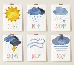 Pre K Activities, Weather Activities, Learning Activities, Seasons Activities, Montessori Activities, Preschool Weather Chart, Weather Cards, Preschool Printables, Preschool Curriculum