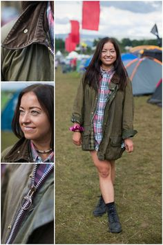 We spotted Imogen in her Dad's vintage wax jacket – a festival favourite that is great in all weather conditions!