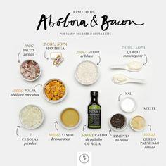 risoto de abóbora e bacon que compartilharemos com vocês hoje é de autoria da nossa querida chef Bruna Leite, da Gourmandisme, que, depois de ter se formado
