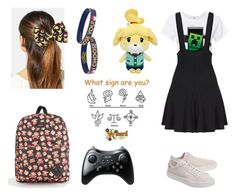 """""""Geeky Gamer Girl ♥"""" by pastelkittyxx ❤ liked on Polyvore featuring beauty, RE/DONE, WALL, adidas Originals, L. Erickson, Nintendo and Vans"""