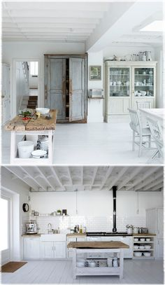 Scandinavians love natural materials, with wood perhaps the most popular, due to an abundance of forests... They aim to fill their homes with light colours to counteract a lack of natural light in winter months... enviable style!!