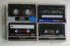 4 TDK audio cassettes : AD 120 / SA 90 / SA 60 / SA 90 / Audiokassetten