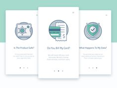 Onboarding Illustrations    I like the visual aesthetic of these onboarding cards. They help explain how the app works, so I'm putting this under UX.