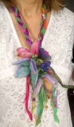 faerie flower lariat scarf necklace headpiece por beautifulplace
