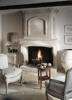 fireplace in Provence