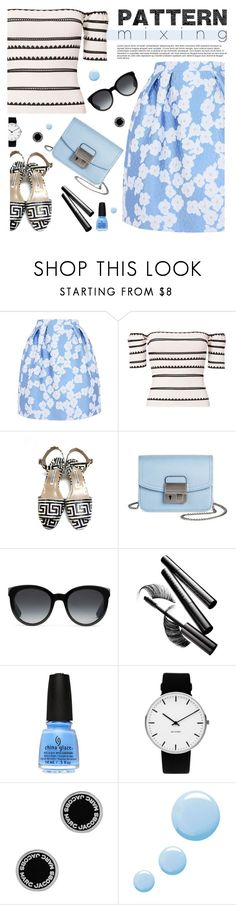 """Stay Bold: Pattern Mixing"" by tamara-p on Polyvore featuring Giorgio Grati, Torn by Ronny Kobo, Manolo Blahnik, Sam & Libby, Gucci, Chantecaille, Rosendahl, Marc Jacobs, Topshop and patternmixing"