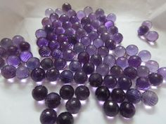 Natural Amethyst Round Balls Facited 8x8 mm 1 pcs by 8gemsinc, $7.99