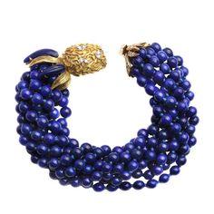 A Cartier Lapis and Gold Bracelet  http://www.1stdibs.com/jewelry/bracelets/link-bracelets/