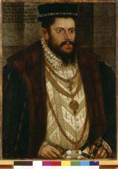 Portrait of Hans Caspar von Pienzenau, Hans Schoepfer the Elder, paint on panel, 1556, Munich.