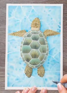 Sea Turtle Painting, Sea Turtle Art, Water Color Turtle, Watercolor Sea, Watercolor Animals, Watercolor Paintings For Beginners, Fruit Painting, Small Paintings, Art Lessons