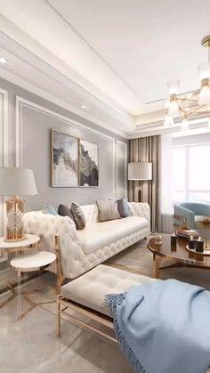 Fancy Living Rooms, Classic Living Room, Elegant Living Room, Home Living Room, Glamour Living Room, Beige Living Rooms, Living Room Decor Traditional, Elegant Home Decor, Elegant Homes