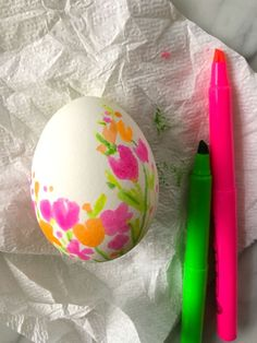 DIY highlighter pen eggs