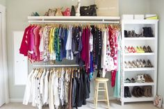 As Carrie Bradshaw said, I like my money right where I can see it..... hanging in my closet. The hubby and I started getting my dressin...